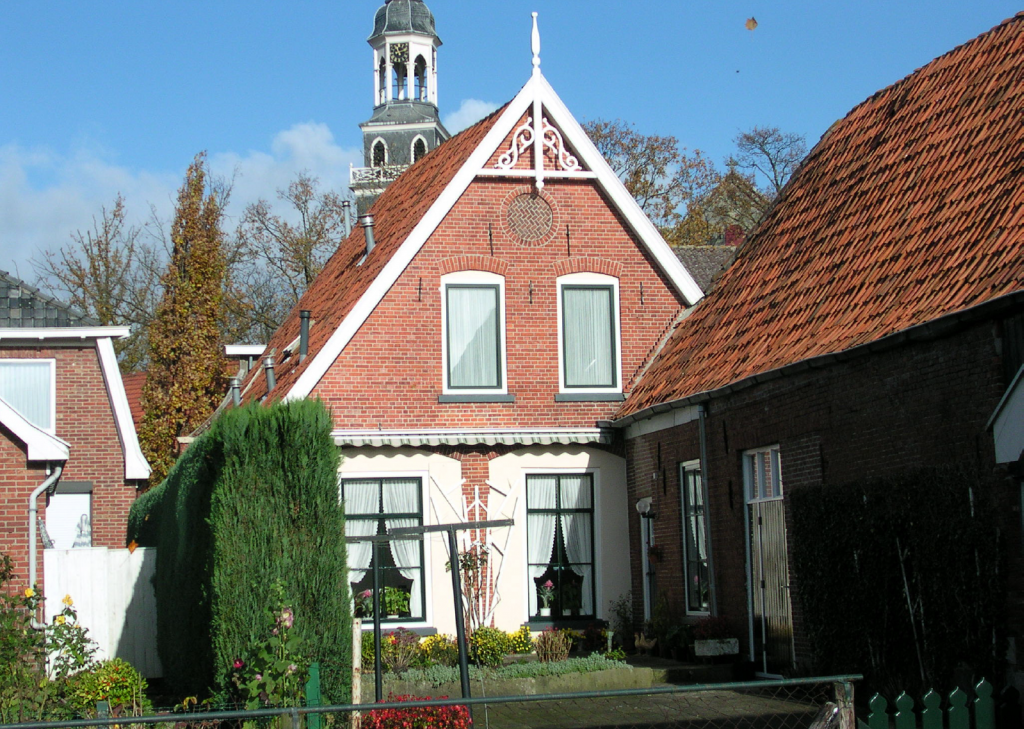 Een huis aan de Bergstraat. Achterzijde Bergstraat