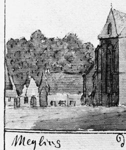 Tekening van Meijling 1733