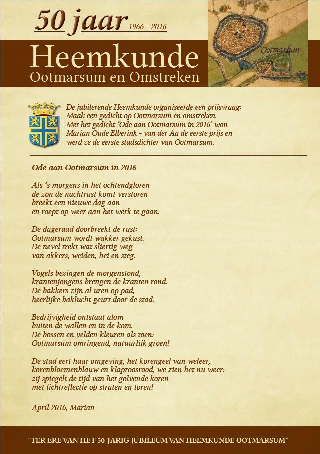 Gedicht Marion oude Elberink