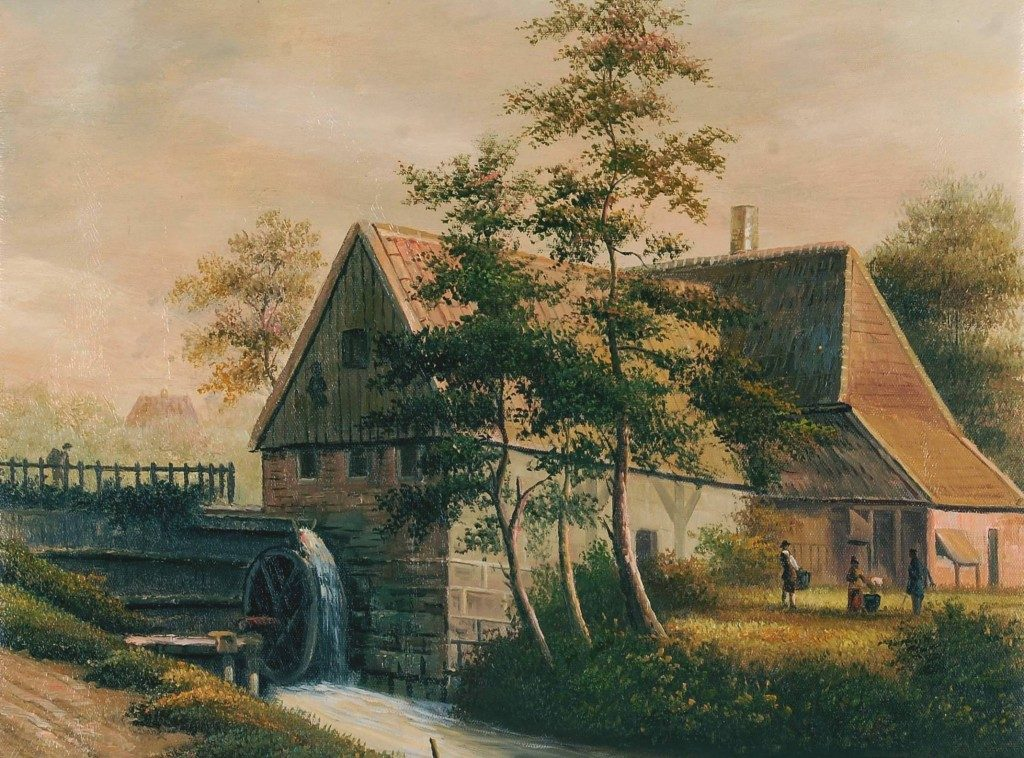 G.Meijer: watermolen bij complex van de Commanderie