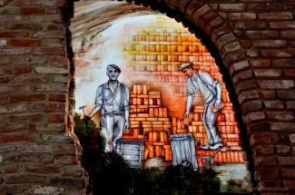 Glasschilderij steenfabriek