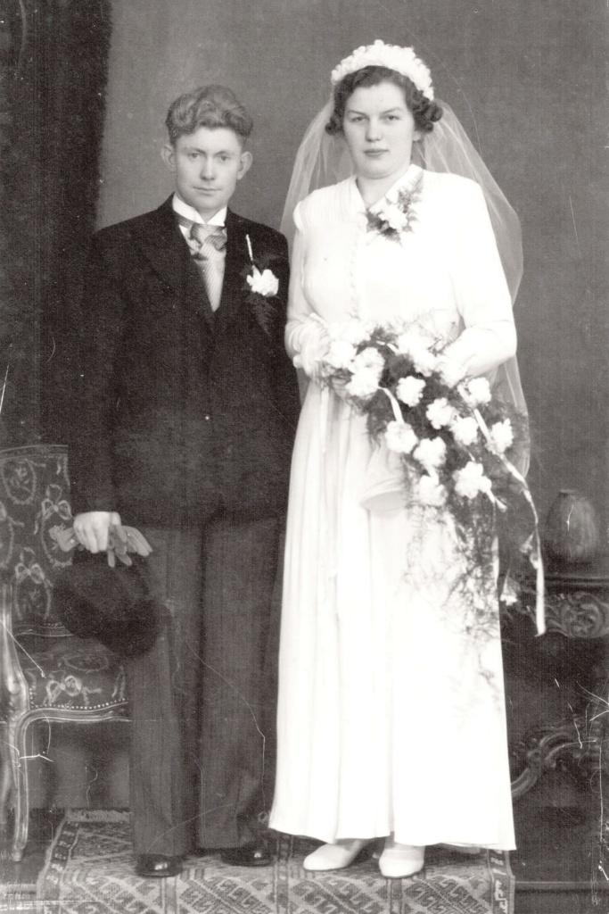 Trouwfoto Gerardus Albertus Kunne en Catharina Theresia Bode